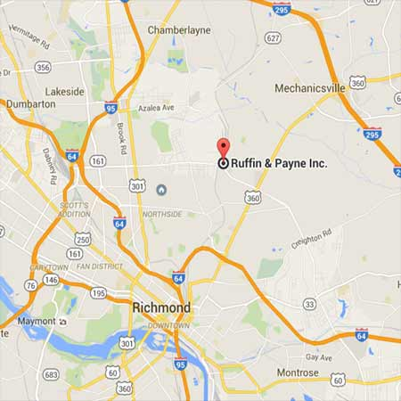 Google Map to Ruffin & Payne in Richmond VA